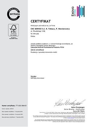 Certyfikat FSC